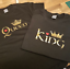 King Queen Prince Princess Family Couples Novelty T shirt jumper