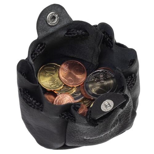 Sacchetto in pelle con coulisse /& pressione chiusura a bottone denaro vescicole Mini Borsa In Pelle