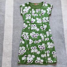 Boden Size 12 Long 100% Silk Beautiful Condition Green Dress Cruise Wedding Grey