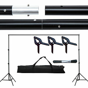 10ft Photography Background Support Stand Photo Backdrop Crossbar Kit Adjustable 709202326115