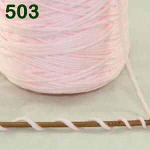 1-Cone-400g-Worsted-Cotton-Chunky-Super-Bulky-Hand-Knitting-Yarn-Baby-Pink