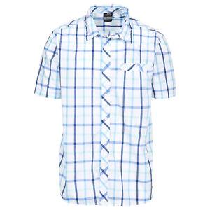 Trespass-Arviat-Mens-Short-Sleeve-Button-Fastening-Casual-Summer-Check-Shirt