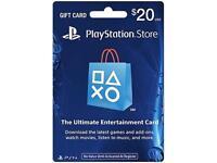 Playstation $20 Psn Gift Card