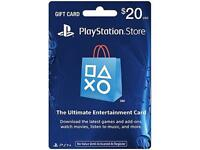 Playstation $20 Psn Gift Card