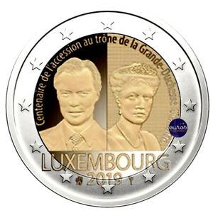 2-euros-commemorative-LUXEMBOURG-2019-Trone-Grande-Duchesse-Charlotte-UNC