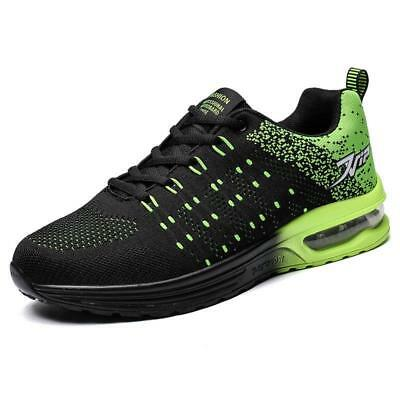 Mens Running Trainers Lace Up Flat Comfy Fitness Gym Sports Hiking Shoes Size