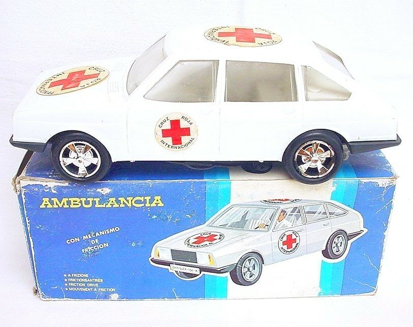 Fundiplastic Spain 1 18 CHRYSLER SIMCA 1307 Friction Plastic Car 29cm MB`78 RARE