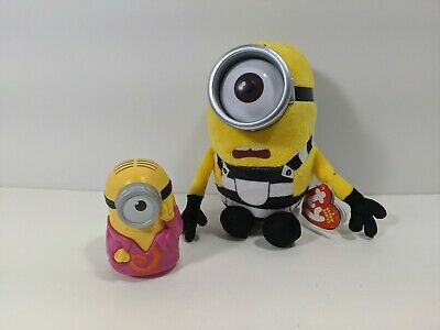 Despicable Me 3 Minion TY Beanie Babies Carl Plush New