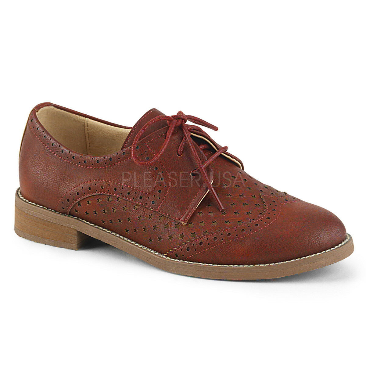 Pin Pin Pin Up Couture HEP26 CYRPU 1  Heel  Cherry Red Wingtip Women's Oxford shoes 6eb306