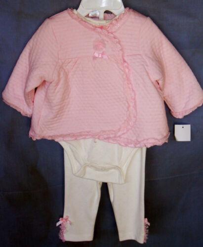 LITTLE ME Lt Pink 3 pc Pant Set w//Puffy Jacket BodySuit /& Pant NWT
