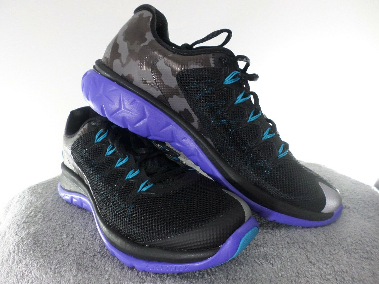 NIKE JORDAN FLIGHT RUNNER 2 SNEAKERS BLACK BLUE LAGOON CONCORD 715572 007 10 NEW The latest discount shoes for men and women