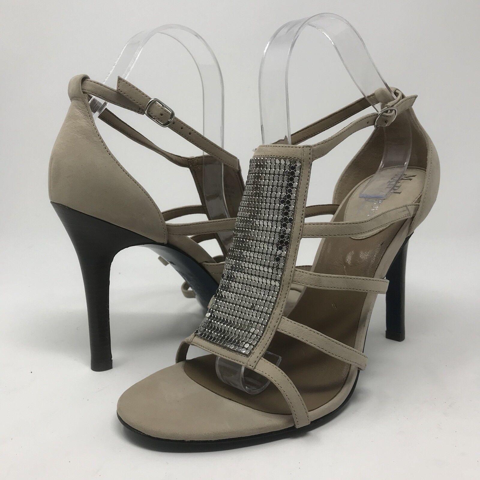 Maria Sharapova By Cole Haan Lalita Strappy Sandals Suede Heels Größe 10 C Wide
