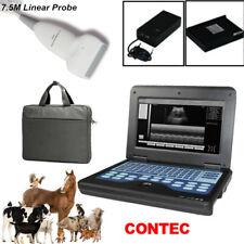 Vet Veterinary Ultrasound Scanner Machine75m Linear Probe Animal Use Ce Fda Us
