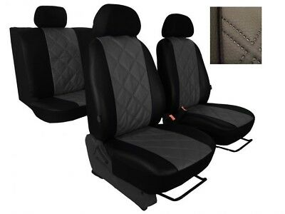 Universal Green//Black Eco-Leather Full Set Car Seat Covers Mercedes W210 W211
