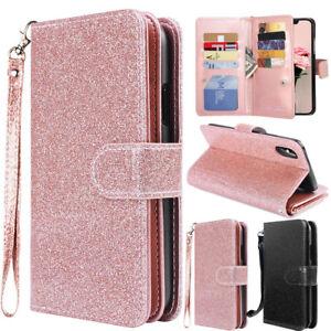 iphone 7 glitter wallet case