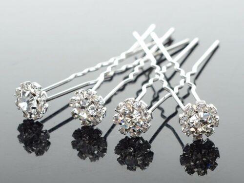 20//40Pc Luxury Wedding Bridal Pearl Flower Crystal Hair Pins Clips Bridesmaid