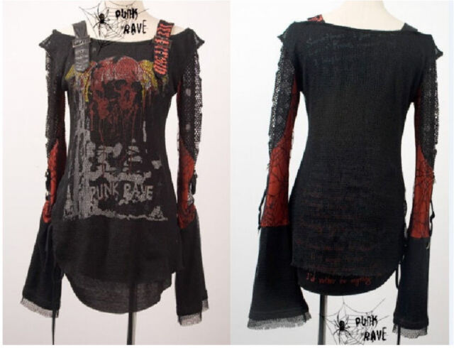 Visual kei fashion nana cool punk gothic lolita t-shirt top S M L free shipping