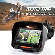 """4.3"""" Motorcycle Sat Nav 8GB 256M Waterproof Bluetooth Biker GPS Navigator + Maps"""