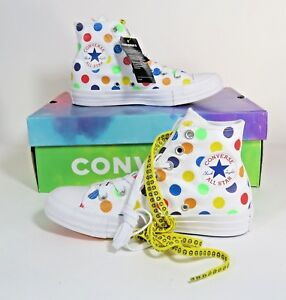 Details about Converse X Miley Cyrus Rainbow Polka Dot Pride Chuck Taylor  162252C Size 7 e393cb475a05