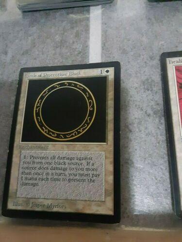MTG MP Magic The Gathering Circle of Protection Black Beta