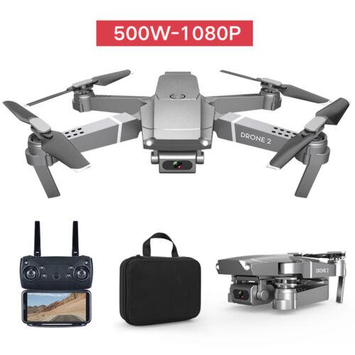 Bateria Wifi E68 FPV Quadricóptero Drone 1080P Câmera Hd Drone Dobrável de ângulo amplo