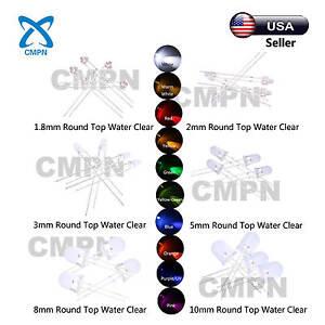 1-8mm-2mm-3mm-5mm-8mm-10mm-LED-White-Red-Blue-Green-UV-RGB-Light-Emitting-Diode