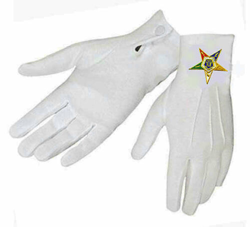 EMBROIDERED LOGO on NYLON 2 SIZES S//M /& L//XL *OES EASTERN STAR GLOVES