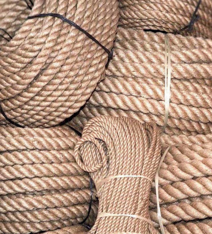 40mm  3,60-  m Juteseil Hanfseil Juteleine Natur gedreht Tauwerk Seil