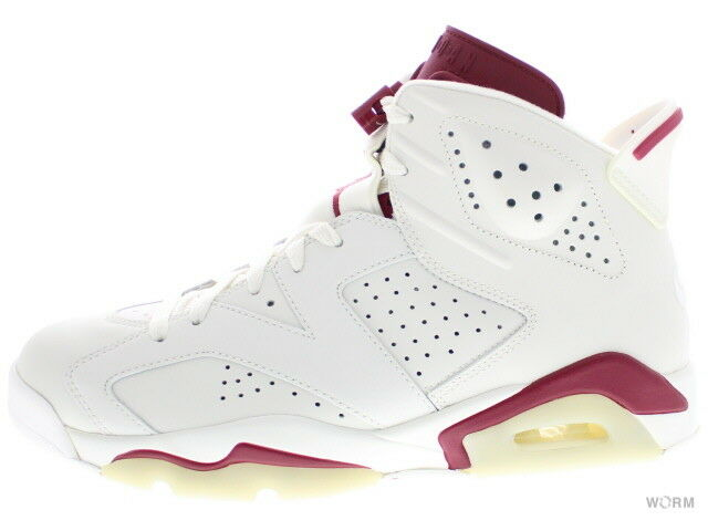 AIR JORDAN 6 RETRO  MAROON  384664-116 off white new maroon 6 Size 11