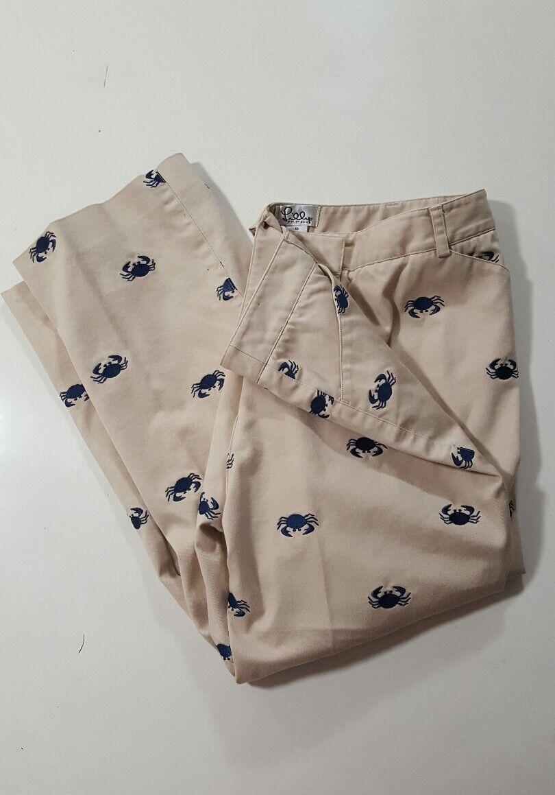 LILLY PULITZER Not So Crabby NWOT Capri Pants SZ 10