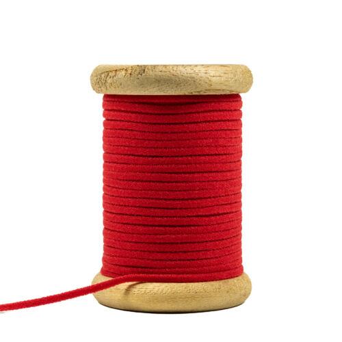 GOMMA CORDINO DI 3 mm rosso per cavo orale e nasale copertura elastico Prezzo = 1m