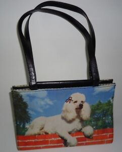 Image Is Loading Poodle Handbag Purse With Bling