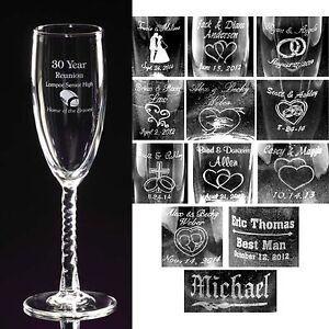 Image Is Loading Personalized Toasting Flutes Champange Gles Engraved Wedding Party
