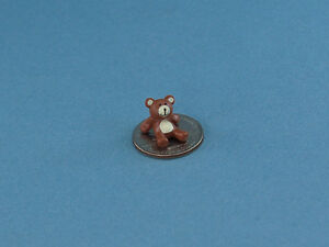 Dollhouse Miniature Small Rubber Teddy Bear Figurine #MUL6033 ADORABLE