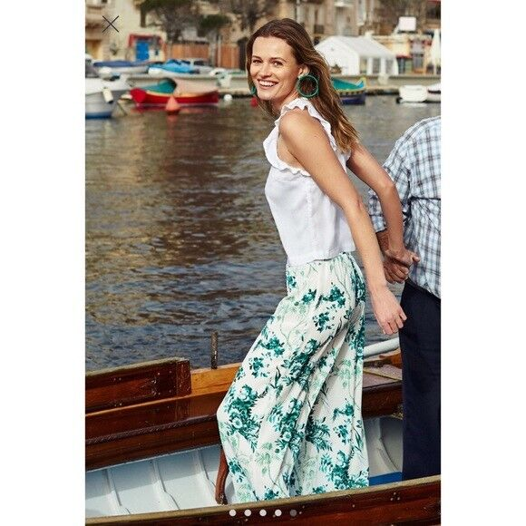 128 Anthropologie Christina Wide-Leg Trousers  new size 4