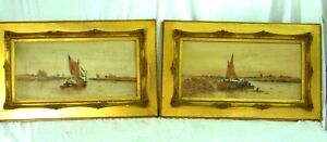 A PAIR Watercolour Paintings of Sail boats Attributed to A Watts 18831935 - Market Drayton, United Kingdom - A PAIR Watercolour Paintings of Sail boats Attributed to A Watts 18831935 - Market Drayton, United Kingdom