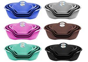 Pet-Dog-Puppy-Cat-Bed-Basket-Heavy-Duty-Plastic-Waterproof-Cushions-4-sizes