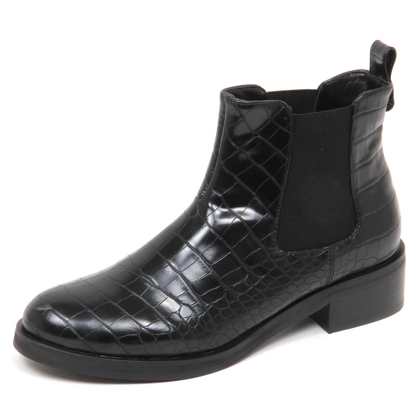 E5306 Beatles mujer negro salamandra 'zapatos eco Leather zapatos Woman