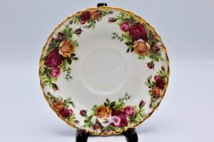 Vintage-Royal-Albert-England-Old-Country-Roses-Bone-China-Saucer-Plate-5-1-2-034