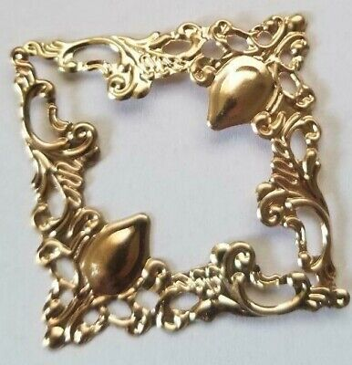 DIY CraftbuddyUS 3inch 10pcs Antique Brass Filigree Metal Decorative Corner