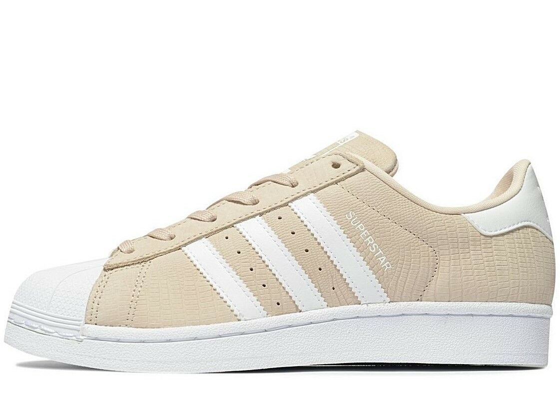 Adidas Originals Superstar Women ® (Sizes UK  4 8 9) Linen   White Reptile Style