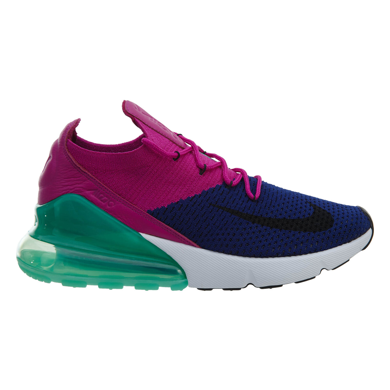 Nike Air Max 270 Flyknit Mens AO1023-401 Royal Fuchsia Running Shoes Size 12