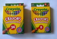 Crayola 8 OR 24 Assorted Wax Crayons Colouring Crayons