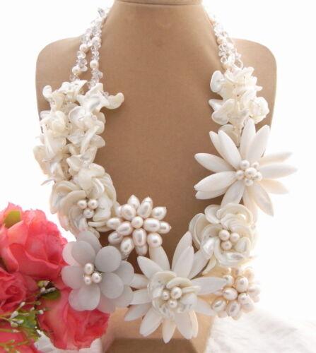 Incroyable Pearl /& JADE /& Cristal /& Shell collier