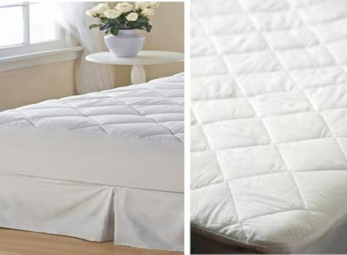 QUILTED MATTRESS OR PILLOW PROTECTOR KING PILLOWS BED BEDROOM BEDS PROTECTORS