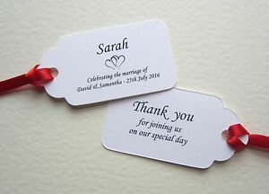 Image Is Loading Personalised Wedding Place Cards Double Sided Tags Table