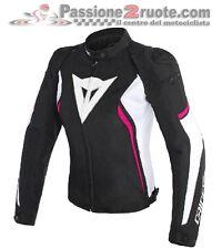 Women's jacket moto Dainese Avro d2 Tex black white fuchsia size 42