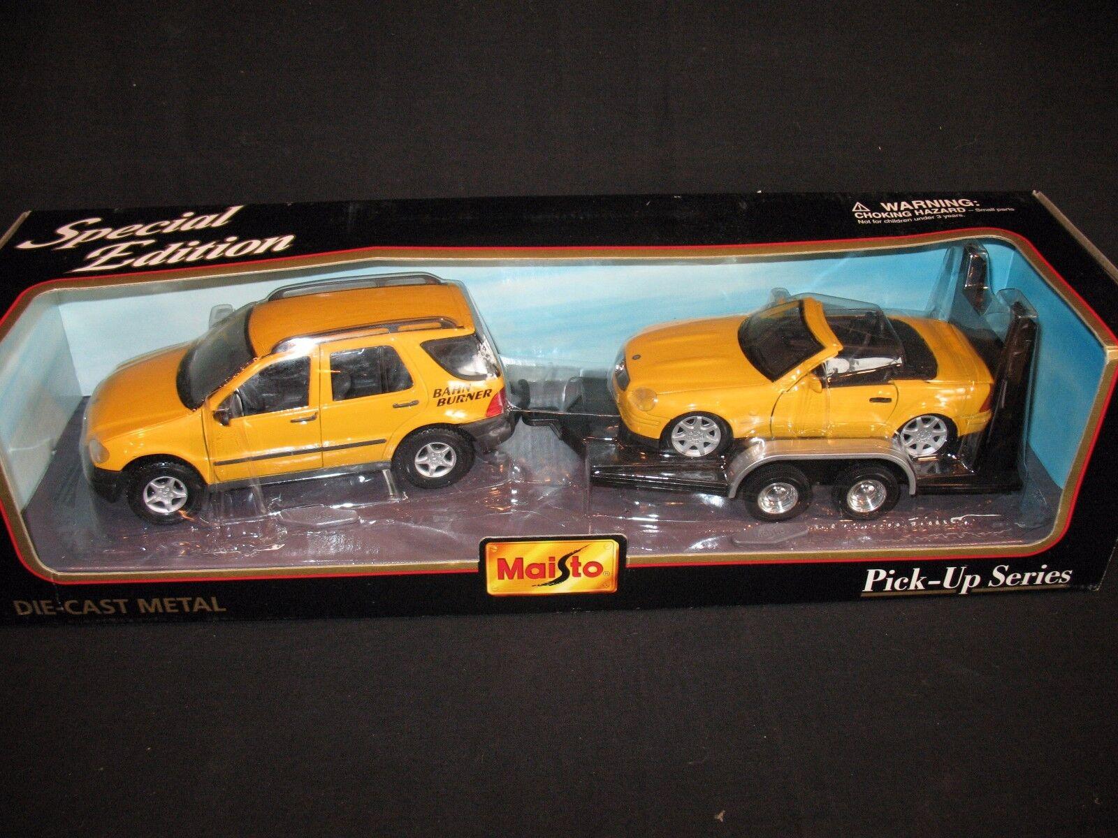 Maisto Mercedes-Benz gift set 1 24 yellow (JS)