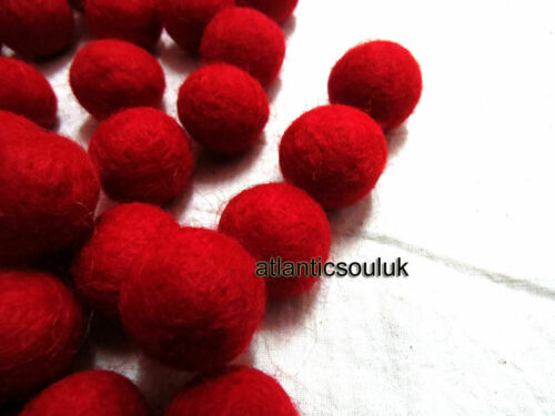 2cm wool pom pom bead Christmas RED Felt Ball garland kid craft supply DIY NEPAL