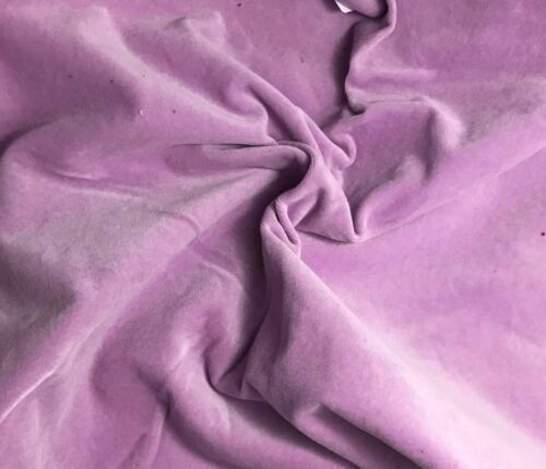 """Hand Dyed Cotton VELVETEEN Fabric LILAC 45/"""" by the yard"""